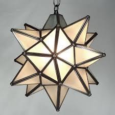 moravian star pendant light frosted glass bronze frame 12