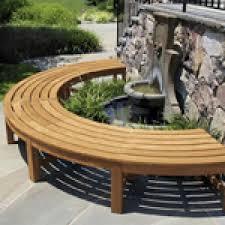 teak 2 1m curved backless garden bench