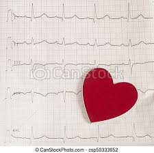 Electrocardiogram On White Background Ekg Graph Paper