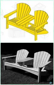 double adirondack chair plans. DIY Double Adirondack Chair Free Plans And Instructions