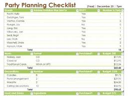 Party List Template Party Planner List Template Event Planning Spreadsheet Excel Free