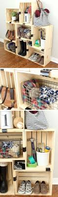 easy crate storage with binder clips small apartment decorating ideas on a budget for the home sweet home crate storage small apartm