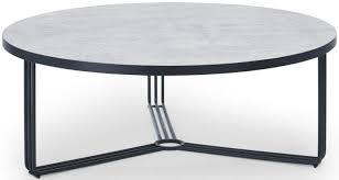 black matt large round coffee table