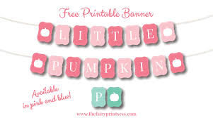 Little Pumpkin Banner Free Printable For Baby Showers And