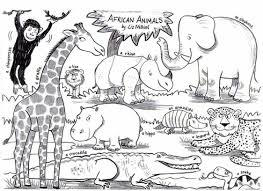 Small Picture Amazing Chic Coloring Pages African Animals African Animal