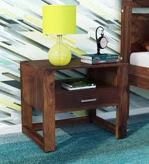 arista bed wood night stand in