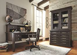 home office desk with hutch. Townser Home Office Desk With Hutch, , Large Hutch L
