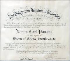 the polytechnic institute of brooklyn diploma doctor of science  certificate