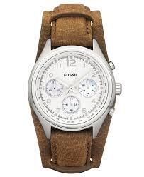 fossil watch women s chronograph flight tan leather strap 38mm ch2795 women s watches jewelry watches macy s