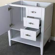 Bellaterra Home 29 Inch White Finish Bathroom Vanity Base
