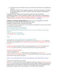 Gene Mapping Problems Wk 5 8 Imed2004 Human Development And Gentics Uwa Studocu