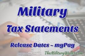 Dfas Mypay Pay Chart 2018 2018 Military Tax Forms Release Schedule Download W 2