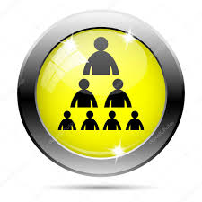 Organizational Chart With People Icon Stock Photo