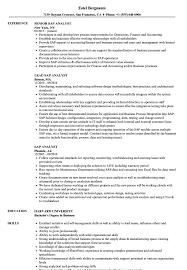 Sap Analyst Resume Samples Velvet Jobs