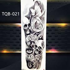 1 List Vlk Plné Květní Paže Dočasné Tetování Samolepky Pro Muže ženy Body Art Rukáv Tetování Obtisky Dívky ženy Vodotěsné Tetování Fox Nohy At Vova