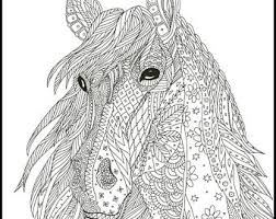 Small Picture Horse coloring page Etsy