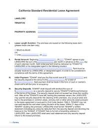{name} , henceforth referred to as sublessor in this agreement, and Free California Standard Residential Lease Agreement Template Pdf Word