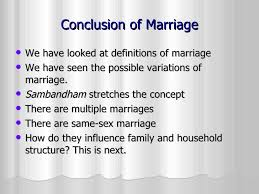 marriage definitions and variations  24 conclusion of marriage