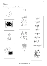 Igh and ie worksheets & activities {no prep!} (long i and e vowel teams pairs). Igh Worksheets Free Printable Worksheets And Activities For Teachers Parents Tutors And Homeschool Families