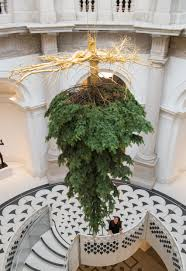 Tree Design Upside Down Christmas Tree Suspended From Ceiling Of Tate Britain