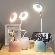 Sáng Tạo USB Để Bàn Đèn Led Để Bàn Cảm Ứng Đèn Hiện Đại Ký Túc Xá Đại Học  Phòng Ngủ Học Led Để Bàn Bút Mắt Bàn Làm Việc đèn|Desk Lamps