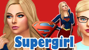 SUPERGIRL | The Sims 4 | Create A Sim (CAS) | Kara Danvers | Collab //  SimmerJonny - YouTube