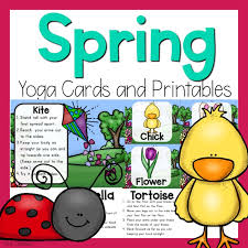 Spring Photo Cards Spring Yoga Cards