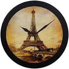 It is named after the engineer gustave eiffel, whose company designed and built the tower. Amazon Com Qyueshang Modern Simple Retro Eiffel Tower Old France Fashion Pattern Wall Clock Indoor Non Ticking Silent Quartz Quiet Sweep Movement Wall Clcok For Office Bathroom Livingroom Decorative 9 65 Inch Home Kitchen
