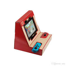 switch case diy labo toy foldable stand labo bracket cardboard holder arcade bracket for ns switch free dhl with 7 26 piece on ecty s