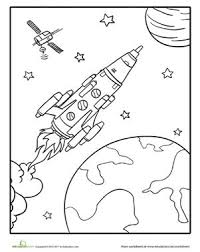Pin By Kristina Parks Dockendorf On Coloring Sheets Space Coloring