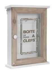 Glass Door Cabinet Wooden Key Cabinet Glass Door Storage Box Accessory Hooks Wall