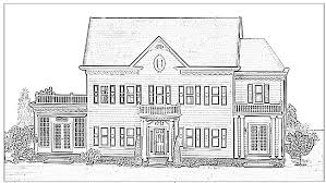 Small Picture House Coloring Pages Bestofcoloringcom