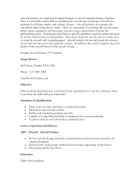 Aircraft Painter Sample Resume Cover Letter Aircraft Painter Sample Resume shalomhouseus 1