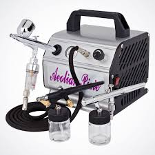 new 3 airbrush kit air compressor dual action spray paint s tattoo nail art 737534394328