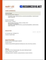 Resume Format 2018 - 20 Free To Download Word Templates
