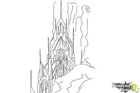 Small Picture Ice castle coloring page