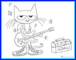 Pete The Cat Coloring Xflt The Best Pete Cat And His Four Groovy