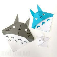 adorable totoro corner bookmarks easy and fun to make
