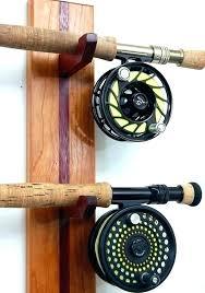 fishing pole wall rack beeline rod 2 holder package mount diy mounted fishing rod wall holder