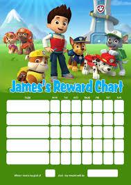 Potty Training Chart Printable Paw Patrol Personalised Paw Patrol Reward Chart Adding Photo Option Available