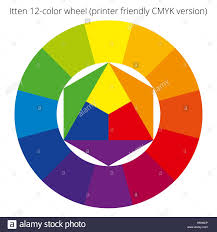 Itten 12 Color Wheel Rgb Palette Scalable Vector Stock