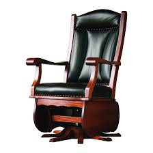 leather swivel glider
