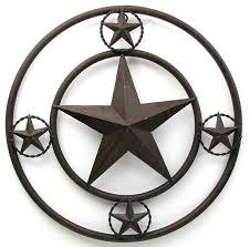 16 rustic farmhouse brown metal stars on edge texas lone star