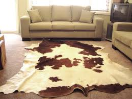 deluxe hereford red and white hair on cow hide rug 420 larger image