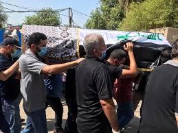 تشييع جثمان الهاشمي في بغداد (صور)