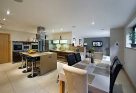 Open Plan Living Room Nice Simple Design Of The Open Plan Images For Family Room And