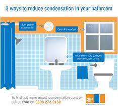 reduce condensation in your bathroom