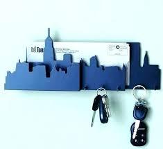 decorative key holder for wall mounted hooks modern astonishing as uk