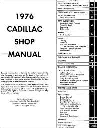 1976 cadillac repair shop manual original 98 El Dorado Wiring Diagram 1976 cadillac repair shop manual original table of contents El Dorado Movie
