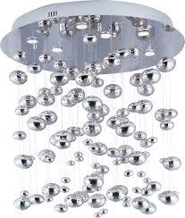 dew flush mount chandelier image